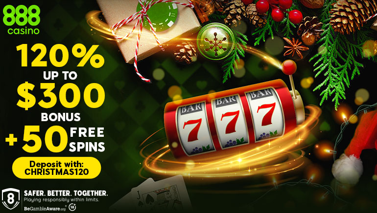 Collect A Special Xmas Welcome Bonus At 888casino