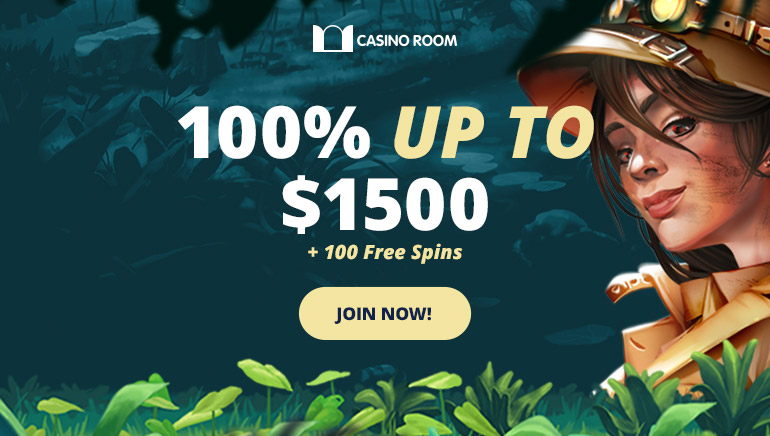 Casino Room 100% welcome bonus for new players only.