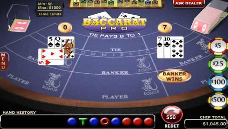 Online free casino baccarat alladin hotel & casino in las vegas