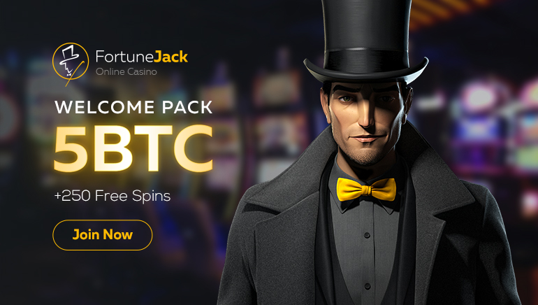 Get 5 BTC and 250 Freespins at FortuneJack Casino