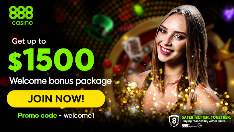 Get up to $1500 welcome bonus at 888 casino for players from Philippines
